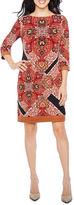 Ronni Nicole 3/4 Sleeve Paisley Sheath Dress