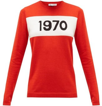 Bella Freud 1970-intarsia Wool Sweater - Red