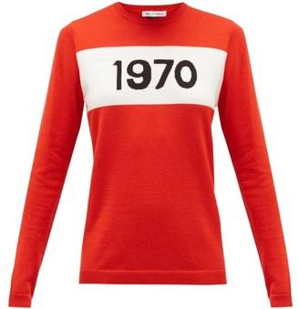 Bella Freud 1970-intarsia Wool Sweater - Womens - Red