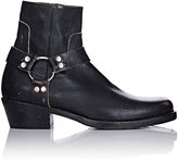 Balenciaga Women's Harness-Strap Leather Ankle Boots