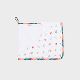 Paul Smith Babies' Bath Sheet And Flannel Set With Striped Trims