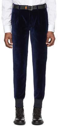Paul Smith Navy Velvet Jogger Trousers