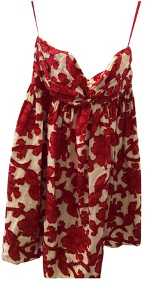 Milly Red Cotton Dress for Women