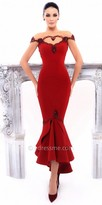 Tarik Ediz Salvia Evening Dress