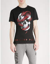 Philipp Plein Skull and snake-print cotton-jersey T-shirt
