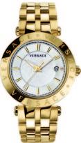 Versace V-Race Collection VQP050015 Men's Stainless Steel Quartz Watch
