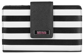 Kenneth Cole Reaction Women's Faux Leather Striped Utility Tab Clutch Wallet