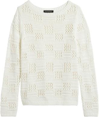Banana Republic Pointelle Boat-Neck Sweater
