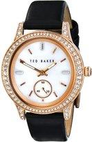 Ted Baker Women's TE2118 Vintage Glam Analog Display Japanese Quartz Black Watch