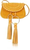 See by Chloe Polly Honey Suede & Leather Mini Crossbody Bag w/Tassels