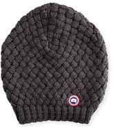 Canada Goose Slouchy Basketweave Wool Beanie