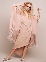 Free People Velvet Dreams Fringe Kimono