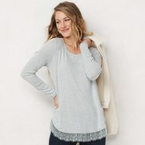 Lauren Conrad Women's Long Sleeve Shirttail Tunic