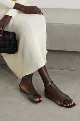 Manolo Blahnik Chafla Patent-leather Sandals - Black