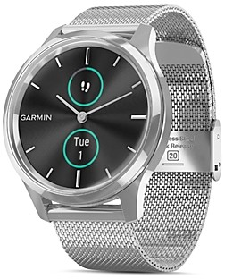 Garmin Vivomove Luxe Milanese Mesh Bracelet Touchscreen Hybrid Smartwatch, 42mm