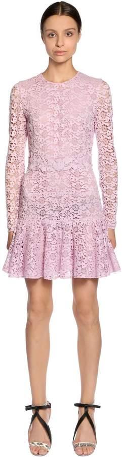 Giambattista Valli Cotton Blend Cordonetto Lace Dress