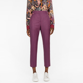 Paul Smith A Suit To Travel In - Women's Slim-Fit Burgundy Puppytooth Wool Trousers