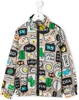Fendi printed jacket - kids - Cotton/Polyamide - 4 yrs