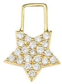Robinson Pelham EarWish 14K Yellow Gold & Diamond Big Star Earring Charm