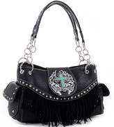 Dasein Black Studded Satchel