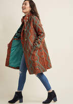 Blutsgeschwister Long-Time Looker Tapestry Coat in M - Walker by from ModCloth