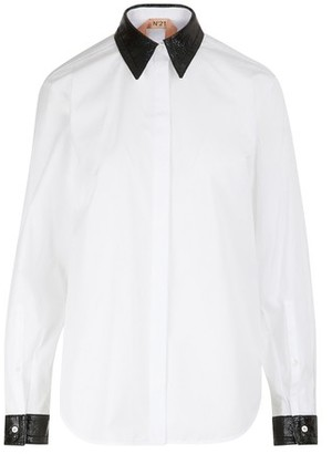 N°21 Jewelled collar shirt