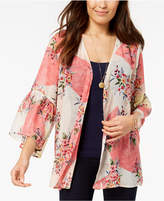 Style&Co. Style & Co Printed Bell-Sleeve Kimono, Created for Macy's