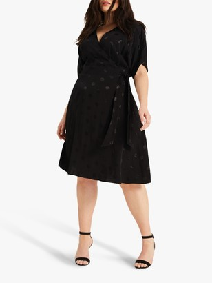 Studio 8 Whitney Spot Wrap Dress, Black