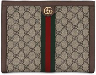 Gucci Ophidia Gg Supreme Squared Zip Pouch
