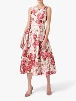 Hobbs Valeria Floral Dress, Peony Multi