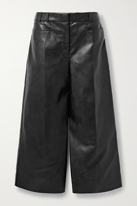 Stella McCartney Charlotte Vegetarian Leather Culottes - Black