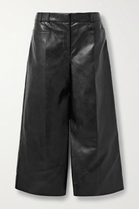 Stella McCartney Charlotte Vegetarian Leather Culottes - Black