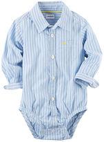 Carter's Dobby Stripe Button-Front Bodysuit