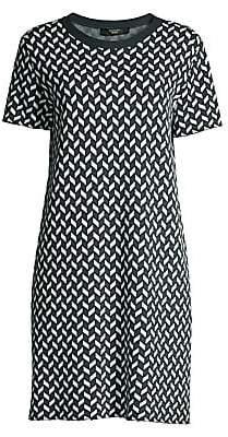 Max Mara Women's Renna Printed T-Shirt Dress