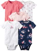 Carter's Baby Girls' 5-Pack Floral Bodysuits