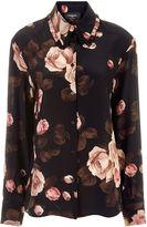Rochas Black Lucrezia Rose Print Shirt