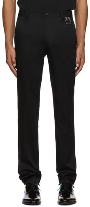 Givenchy Black Buckle Chino Trousers