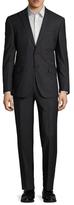 English Laundry Mini Plaid Peak Lapel Suit