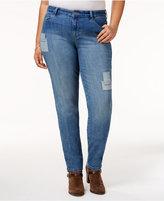 Style&Co. Style & Co Plus Size Patched Camino Wash Skinny Jeans, Only at Macy's