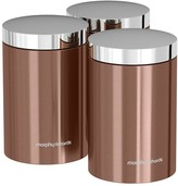 Morphy Richards Accents Set of 3 Storage Canisters Copper