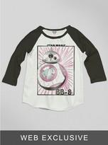 Junk Food Clothing Kids Girls The Force Awakens Bb-8 Raglan-su/bw-l