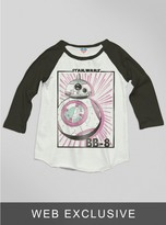 Junk Food Clothing Kids Girls The Force Awakens Bb-8 Raglan-su/bw-xs