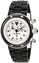 Glam Rock Unisex GK1112 Miami Beach Chronograph White Dial Black Plastic Watch