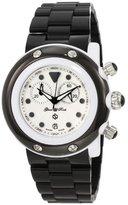 Glam Rock Unisex GK1112 Miami Beach Chronograph White Dial Black Plastic Watch