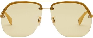 Fendi Aviator Frame Sunglasses