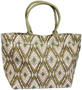 Indian Summer Ikat Medium Tote (Women) - Olive - One Size
