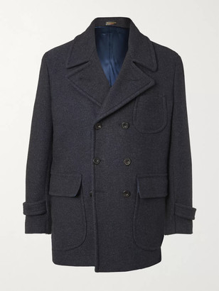 Rubinacci Double-Breasted Virgin Wool-Blend Peacoat