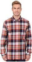 Lacoste L/S Button Down Indigo Bold Plaid Woven Shirt