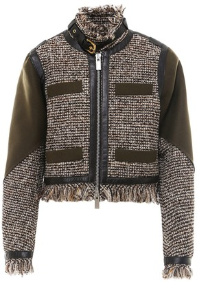 Sacai Frayed Hem Jacket