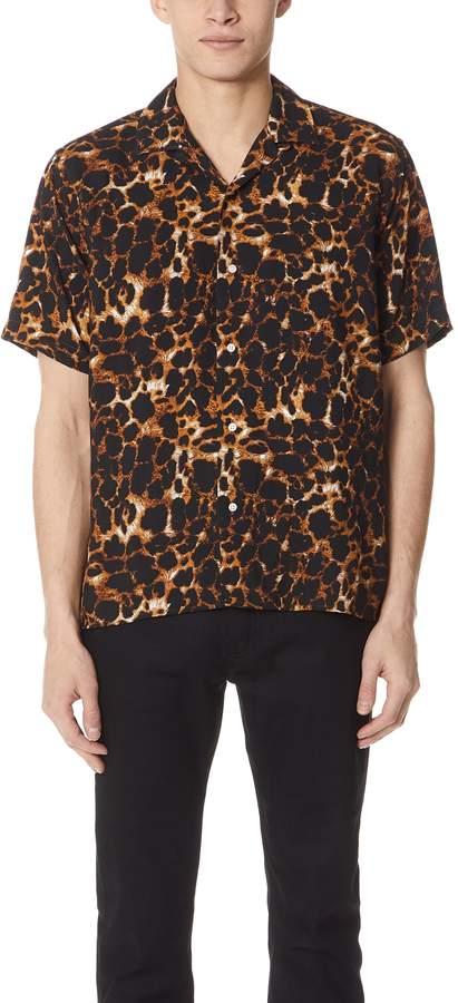 Gitman Brothers Short Sleeve Leopard Camp Shirt